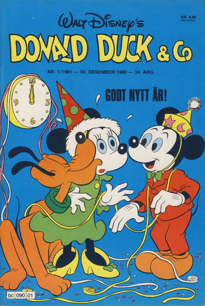 Cover for Donald Duck & Co (Hjemmet / Egmont, 1948 series) #1/1981