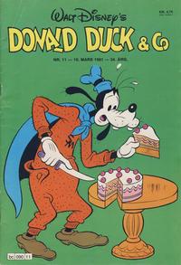 Cover Thumbnail for Donald Duck & Co (Hjemmet / Egmont, 1948 series) #11/1981