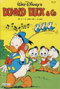 Cover Thumbnail for Donald Duck & Co (Hjemmet / Egmont, 1948 series) #17/1981