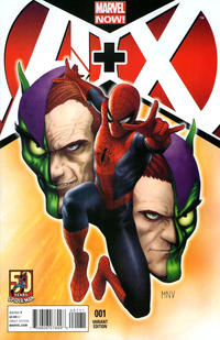 Cover Thumbnail for A+X (Marvel, 2012 series) #1 [Spider-Man 50th Anniversary Variant Cover by Steve McNiven]