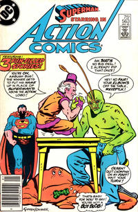 Cover Thumbnail for Action Comics (DC, 1938 series) #563 [Newsstand]