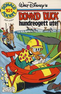 Cover Thumbnail for Donald Pocket (Hjemmet / Egmont, 1968 series) #101 - Donald Duck Hundreogett ute [1. opplag]