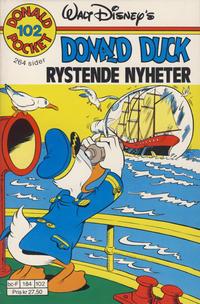 Cover Thumbnail for Donald Pocket (Hjemmet / Egmont, 1968 series) #102 - Donald Duck Rystende nyheter [1. opplag]