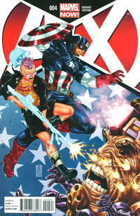 Cover Thumbnail for A+X (Marvel, 2012 series) #4 [Variant Cover by Mark Brooks]