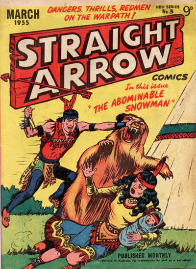 Cover for Straight Arrow Comics (Magazine Management, 1955 series) #3