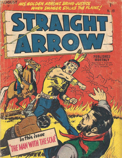 Cover for Straight Arrow Comics (Magazine Management, 1955 series) #19