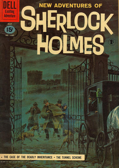 Cover for Four Color (Dell, 1942 series) #1169 - New Adventures of Sherlock Holmes [British]