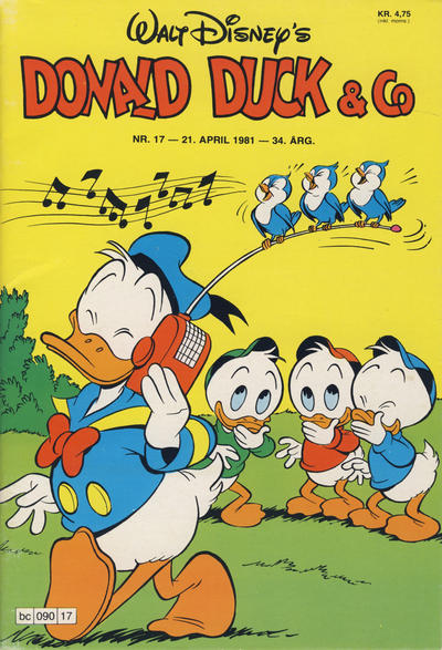 Cover for Donald Duck & Co (Hjemmet / Egmont, 1948 series) #17/1981