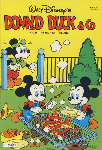 Cover for Donald Duck & Co (Hjemmet / Egmont, 1948 series) #21/1981