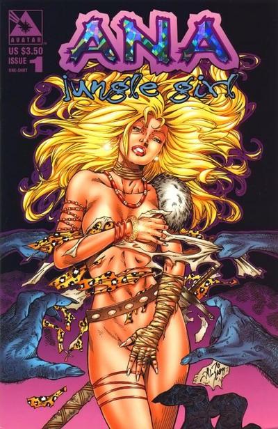Cover for Al Rio's Ana: Jungle Girl (Avatar Press, 2000 series) #1 [Nude B]