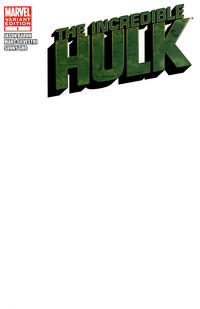 Cover Thumbnail for The Incredible Hulk (Marvel, 2011 series) #1 [Blank Variant]