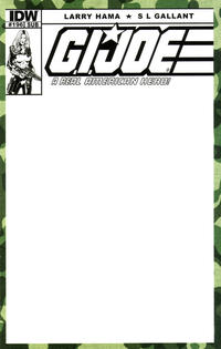 Cover Thumbnail for G.I. Joe: A Real American Hero (IDW, 2010 series) #196 [Subscription Variant Blank Sketch Cover]