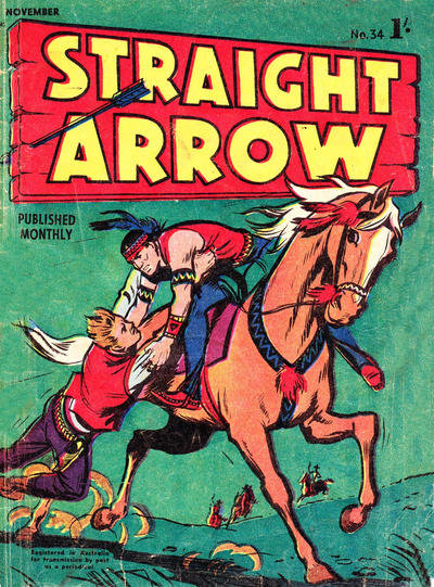 Cover for Straight Arrow Comics (Magazine Management, 1955 series) #34