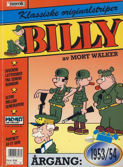 Cover for Billy Klassiske originalstriper (Semic, 1989 series) #1953/54 [2. opplag]