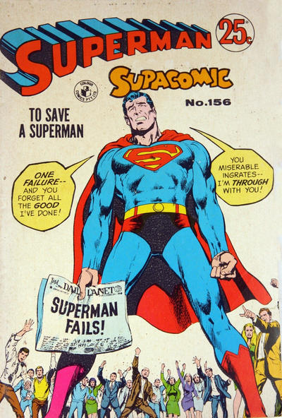 Cover for Superman Supacomic (K. G. Murray, 1959 series) #156