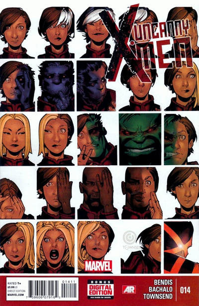 Cover for Uncanny X-Men (Marvel, 2013 series) #14 [Direct Edition]