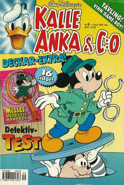 Cover for Kalle Anka & C:o (Serieförlaget [1980-talet], 1992 series) #9/1993