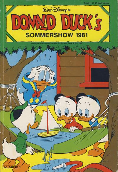 Cover for Donald Ducks Show (Hjemmet / Egmont, 1957 series) #[39] - Sommershow 1981
