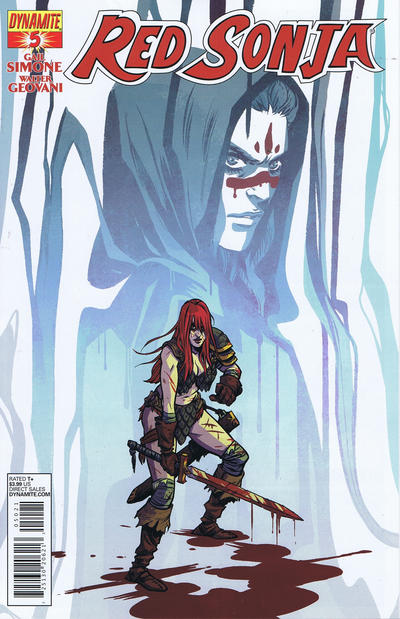 Cover for Red Sonja (Dynamite Entertainment, 2013 series) #5 [Black & White Retailer Incentive Cover  Becky Cloonan ]
