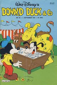 Cover Thumbnail for Donald Duck & Co (Hjemmet / Egmont, 1948 series) #36/1981