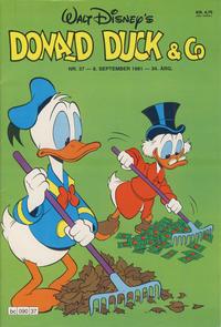 Cover Thumbnail for Donald Duck & Co (Hjemmet / Egmont, 1948 series) #37/1981