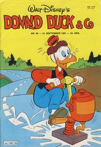Cover Thumbnail for Donald Duck & Co (Hjemmet / Egmont, 1948 series) #38/1981