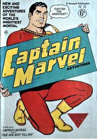 Cover Thumbnail for Captain Marvel Adventures (L. Miller & Son, 1950 series) #71