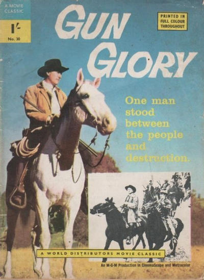 Cover for A Movie Classic (World Distributors, 1956 ? series) #30 - Gun Glory