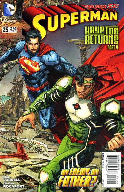 Cover for Superman (DC, 2011 series) #25 [Direct Sales]