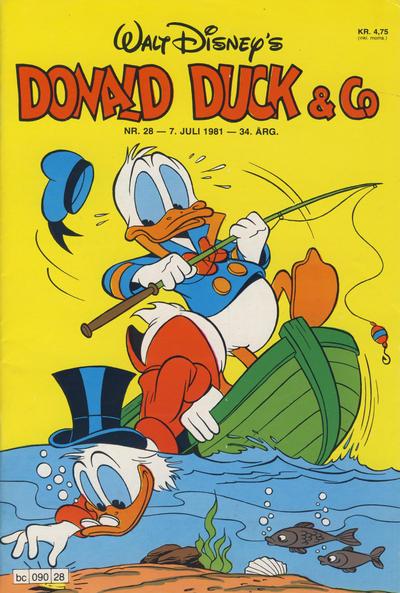 Cover for Donald Duck & Co (Hjemmet / Egmont, 1948 series) #28/1981
