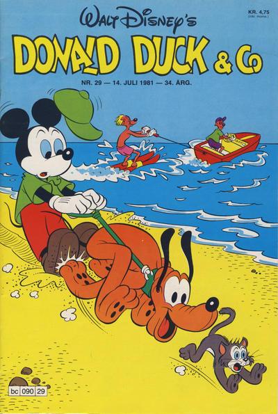 Cover for Donald Duck & Co (Hjemmet / Egmont, 1948 series) #29/1981