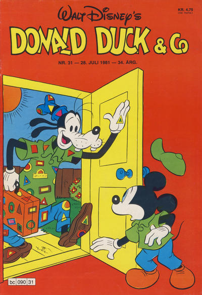 Cover for Donald Duck & Co (Hjemmet / Egmont, 1948 series) #31/1981