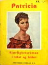 Cover for Patricia (Fredhøis forlag, 1961 series) #[nn] [1. opplag]