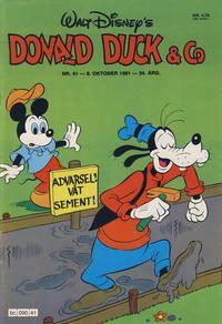 Cover Thumbnail for Donald Duck & Co (Hjemmet / Egmont, 1948 series) #41/1981