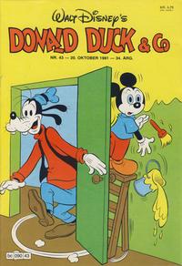 Cover Thumbnail for Donald Duck & Co (Hjemmet / Egmont, 1948 series) #43/1981