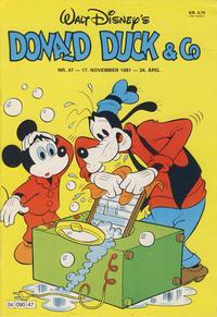 Cover Thumbnail for Donald Duck & Co (Hjemmet / Egmont, 1948 series) #47/1981