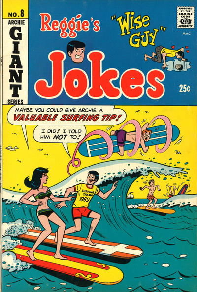 Cover for Reggie's Wise Guy Jokes (Archie, 1968 series) #8