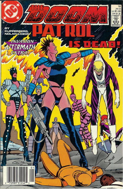 Cover for Doom Patrol (DC, 1987 series) #18 [Direct Edition]