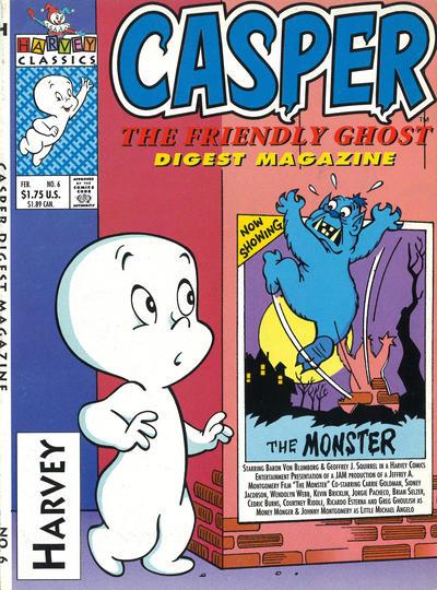 Cover for Casper Digest Magazine (Harvey, 1991 series) #6