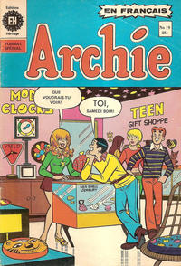 Cover Thumbnail for Archie (Editions Héritage, 1971 series) #19