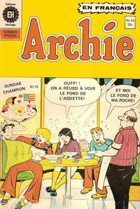 Cover Thumbnail for Archie (Editions Héritage, 1971 series) #34