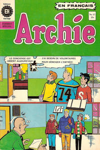 Cover Thumbnail for Archie (Editions Héritage, 1971 series) #37