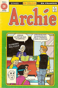 Cover Thumbnail for Archie (Editions Héritage, 1971 series) #128