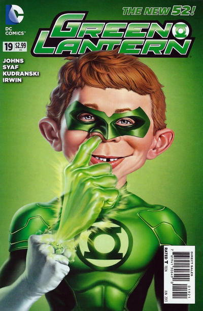 Cover for Green Lantern (DC, 2011 series) #19 [Mad Magazine Variant Cover]