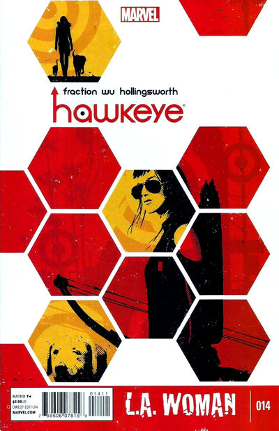 Cover for Hawkeye (Marvel, 2012 series) #14 [Thor Battle Variant Cover by Walter Simonson]