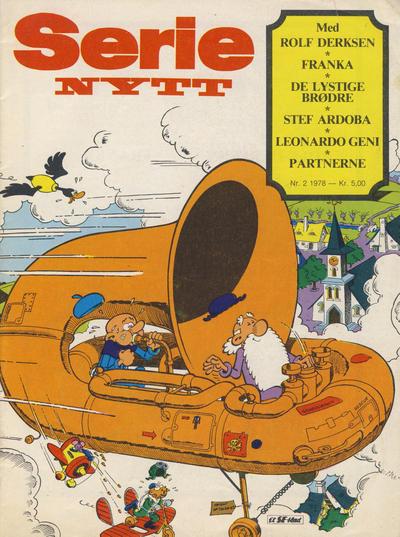 Cover for Serie-nytt (Serieforlaget / Se-Bladene / Stabenfeldt, 1978 series) #2/1978