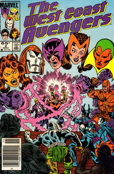 Cover for West Coast Avengers (Marvel, 1985 series) #2 [Canadian Newsstand Edition]