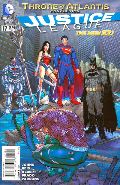 Cover for Justice League (DC, 2011 series) #17 [Steve Skroce Cover]