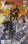 Cover Thumbnail for Amazing X-Men (2014 series) #1 [Salvador Larroca Variant Laughing Ogre Comics Exclusive ]