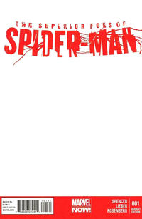 Cover Thumbnail for The Superior Foes of Spider-Man (Marvel, 2013 series) #1 [Blank Variant]